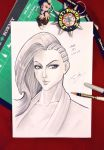 Street Fighter V Laura convention sketch by JasonCardy