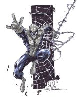 Spidey copic sketch by JoeyVazquez
