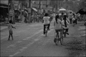 Street at peak hour by watto58
