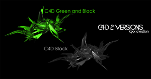 C4d Green and Black y Black by luquituxxx