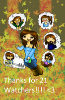 THANKS FOR 21 WATCHERS by anthirules