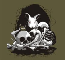 THE BEAST OF CAERBANNOG - T Shirt Art by AdamsPinto