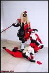 Three Harley Quinns Dragoncon 2012 by NoFlutter