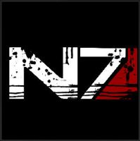 Black Ops 2 N7 (Mass Effect) scratched emblem by WizE-KevN