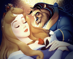Sleeping Beauty X the Beast by formol-overdose