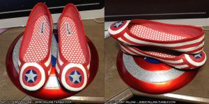 Captain America Costume Shoes by GinnyMilling