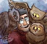 Owls by Demona-Silverwing