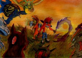 The Great Heores - Daxter E Crash by x723