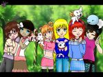 Digimon - Walk in the woods by SajocosAngel
