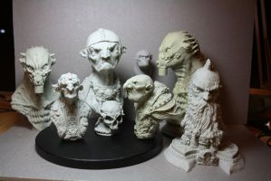 my sculptures in resin kits by giolord11