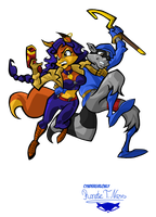 Sly and Carmelita by Cyndergirlonly