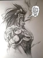 LOBO ANGRY by Sandoval-Art
