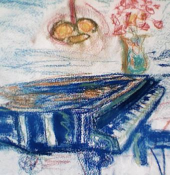 blue piano by daneterry