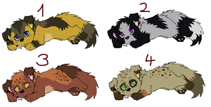 Puppy Adoptables for JB-Pawsteps Contest by LizzysAdopts