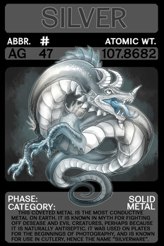 Scygon Elemental Cards- Silver by Lucieniibi