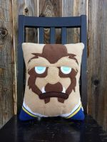 Beast pillow, custom order by Telahmarie