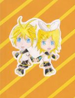 Chibi-fied: Rin and Len by WinterEquinox31