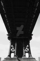 manhattan bridge by inkoginko