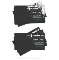 Djmaster.ru visitcard by dioxyde