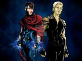 Wiccan and Hulkling by JGiampietro