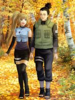Commission: Shikamaru+Himawari by starca