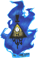 Inktober Day 3: Bill Cipher by OmegaSam7890