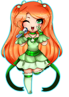 Chibi commission for RinCagamine by AruOwlsArts
