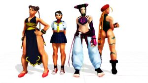 MMD MODELS STREET FIGHTER by aittel