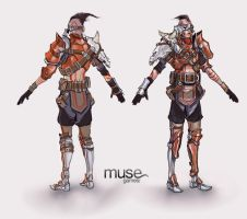 Costume Concept - Tribal Gunner Male by musegames