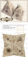 Printable Maps and Compass Pyramid Box by VectoriaDesigns