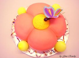 Flower Cake by ginas-cakes