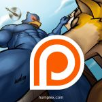 Giant Falco and Fox, Oral (Commission) by humbuged