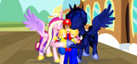 Princess Birthday Hugs For The Twins by Mario-McFly