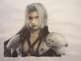 Sephiroth - Cross Stitch by Melian-Vidumavi