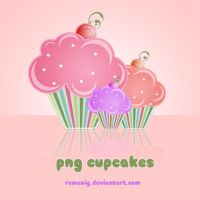 Png CupCakes by Romenig