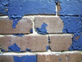 Blue Painted Brick 03 by lobe-stock