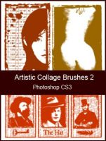 Artistic Collage Brushes 2 by KingaBritschgi