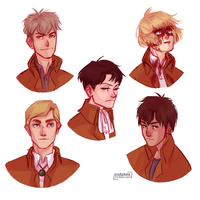 Shingeki no headshots by Nikadonna