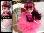 Monster high repaint Draculaura Doll by Katerina-Art