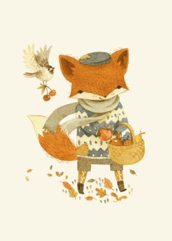 Fritz the Fruit-Foraging Fox by teaganwhite