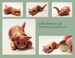 Little Brown Cat - GIFT by Bittythings