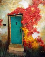 The Turquoise Door by AestromArtwork