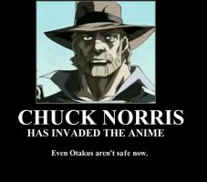 CHUCK NORRIS INVADED ANIME by Nisshoke