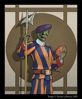 Swiss Guard Zombie by SachaLefebvre