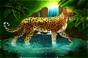 Leopard pond+Speedpaint by Yechii