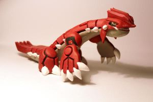 Handmade Groudon desk buddy