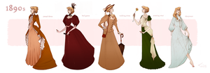 1890s fashion by Nibilondiel