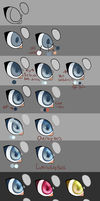 Paint tool sai: Eye Tutorial by R3llO