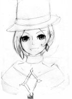 Trucy wright- sketch by ReddHood