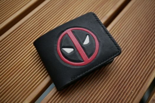 Deadpool leather bifold wallet by Arnakhat
